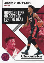 Load image into Gallery viewer, 2019-20 Panini Chronicles Basketball Cards PINK Parallels: #5 Jimmy Butler  - Miami Heat