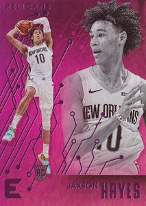 2019-20 Panini Chronicles Basketball Cards PINK Parallels: #218 Jaxson Hayes RC - New Orleans Pelicans