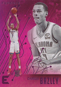 2019-20 Panini Chronicles Basketball Cards PINK Parallels: #228 Darius Bazley RC - Oklahoma City Thunder
