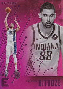 2019-20 Panini Chronicles Basketball Cards PINK Parallels: #235 Goga Bitadze RC - Indiana Pacers