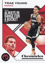 Load image into Gallery viewer, 2019-20 Panini Chronicles Basketball Cards TEAL Parallels: #12 Trae Young  - Atlanta Hawks