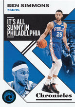 Load image into Gallery viewer, 2019-20 Panini Chronicles Basketball Cards TEAL Parallels: #32 Ben Simmons  - Philadelphia 76ers