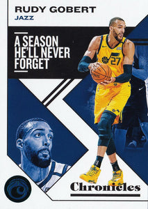 2019-20 Panini Chronicles Basketball Cards TEAL Parallels: #40 Rudy Gobert  - Utah Jazz