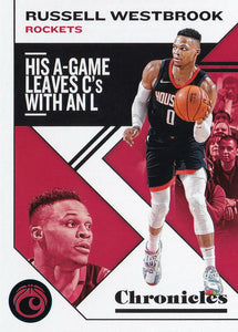 2019-20 Panini Chronicles Basketball Cards TEAL Parallels: #45 Russell Westbrook  - Houston Rockets