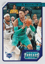 Load image into Gallery viewer, 2019-20 Panini Chronicles Basketball Cards TEAL Parallels: #85 PJ Washington Jr. RC - Charlotte Hornets