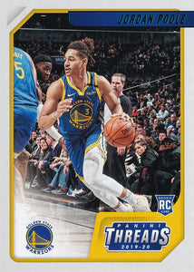 2019-20 Panini Chronicles Basketball Cards TEAL Parallels: #89 Jordan Poole RC - Golden State Warriors
