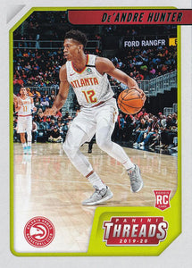 2019-20 Panini Chronicles Basketball Cards TEAL Parallels: #94 De'Andre Hunter RC - Atlanta Hawks
