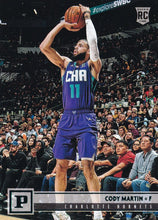 Load image into Gallery viewer, 2019-20 Panini Chronicles Basketball Cards TEAL Parallels: #124 Cody Martin RC - Charlotte Hornets