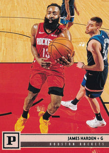 2019-20 Panini Chronicles Basketball Cards TEAL Parallels: #131 James Harden RC - Houston Rockets