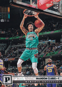 2019-20 Panini Chronicles Basketball Cards TEAL Parallels: #134 Brandon Clarke RC - Memphis Grizzlies