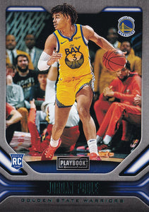 2019-20 Panini Chronicles Basketball Cards TEAL Parallels: #192 Jordan Poole RC - Golden State Warriors