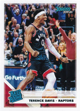 Load image into Gallery viewer, 2019-20 Panini Chronicles Basketball Cards TEAL Parallels: #196 Terence Davis RC - Toronto Raptors