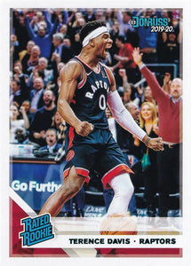 2019-20 Panini Chronicles Basketball Cards TEAL Parallels: #196 Terence Davis RC - Toronto Raptors