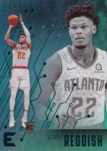 Load image into Gallery viewer, 2019-20 Panini Chronicles Basketball Cards TEAL Parallels: #215 Cam Reddish RC - Atlanta Hawks