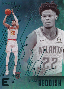 2019-20 Panini Chronicles Basketball Cards TEAL Parallels: #215 Cam Reddish RC - Atlanta Hawks