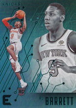 Load image into Gallery viewer, 2019-20 Panini Chronicles Basketball Cards TEAL Parallels: #225 RJ Barrett RC - New York Knicks
