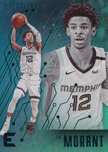 Load image into Gallery viewer, 2019-20 Panini Chronicles Basketball Cards TEAL Parallels: #230 Ja Morant RC - Memphis Grizzlies