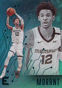 2019-20 Panini Chronicles Basketball Cards TEAL Parallels: #230 Ja Morant RC - Memphis Grizzlies