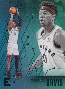 2019-20 Panini Chronicles Basketball Cards TEAL Parallels: #233 Terence Davis RC - Toronto Raptors