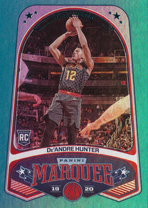 2019-20 Panini Chronicles Basketball Cards TEAL Parallels: #256 De'Andre Hunter RC - Atlanta Hawks