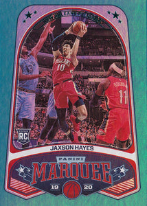 2019-20 Panini Chronicles Basketball Cards TEAL Parallels: #261 Jaxson Hayes RC - New Orleans Pelicans