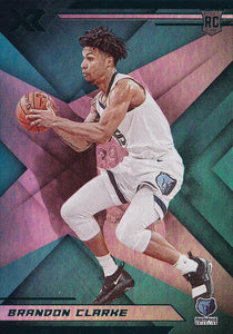 2019-20 Panini Chronicles Basketball Cards TEAL Parallels: #279 Brandon Clarke RC - Memphis Grizzlies