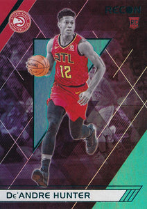 2019-20 Panini Chronicles Basketball Cards TEAL Parallels: #293 De'Andre Hunter RC - Atlanta Hawks