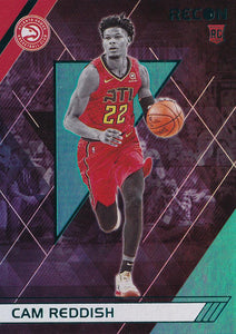 2019-20 Panini Chronicles Basketball Cards TEAL Parallels: #296 Cam Reddish RC - Atlanta Hawks