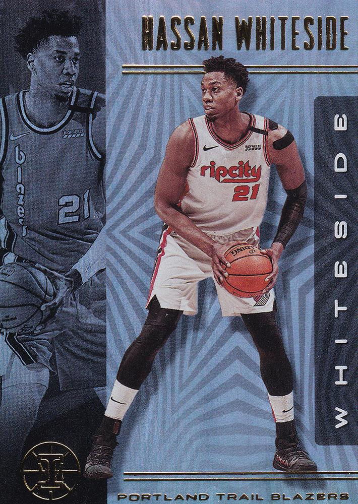 2019-20 Panini Illusions Basketball Cards #1-100: #1 Hassan Whiteside  - Portland Trail Blazers