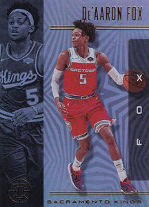 2019-20 Panini Illusions Basketball Cards #1-100: #7 De'Aaron Fox  - Sacramento Kings