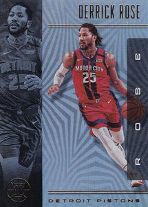 2019-20 Panini Illusions Basketball Cards #1-100: #9 Derrick Rose  - Detroit Pistons