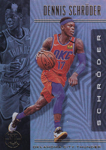 2019-20 Panini Illusions Basketball Cards #1-100: #23 Dennis Schroder  - Oklahoma City Thunder