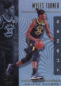 2019-20 Panini Illusions Basketball Cards #1-100: #27 Myles Turner  - Indiana Pacers