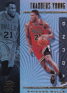 2019-20 Panini Illusions Basketball Cards #1-100: #28 Thaddeus Young  - Chicago Bulls