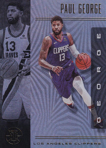 2019-20 Panini Illusions Basketball Cards #1-100: #52 Paul George  - Los Angeles Clippers