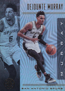 2019-20 Panini Illusions Basketball Cards #1-100: #56 Dejounte Murray  - San Antonio Spurs