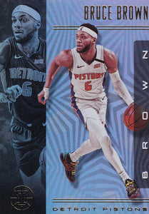 2019-20 Panini Illusions Basketball Cards #1-100: #68 Bruce Brown  - Detroit Pistons