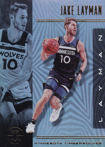 2019-20 Panini Illusions Basketball Cards #1-100: #84 Jake Layman  - Minnesota Timberwolves