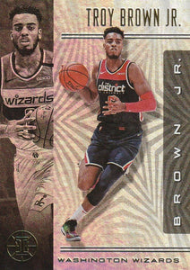 2019-20 Panini Illusions Basketball Cards #1-100: #89 Troy Brown Jr.  - Washington Wizards