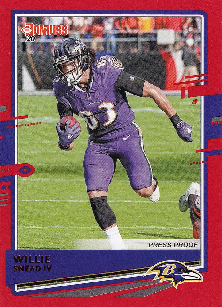 2020 Donruss NFL RED PRESS PROOF Parallels ~ Pick Your Cards