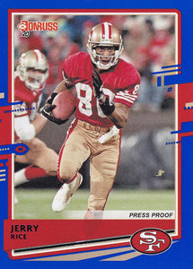 2020 Donruss NFL BLUE PRESS PROOF Parallels ~ Pick Your Cards