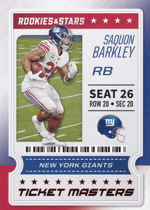 2020 Panini Rookies & Stars NFL TICKET MASTERS Inserts ~ Pick Your Cards