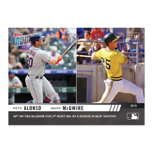 Load image into Gallery viewer, 2019 Topps Now #859 Pete Alonso Mark McGwire