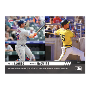 2019 Topps Now #859 Pete Alonso Mark McGwire
