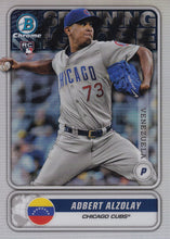 Load image into Gallery viewer, 2020 Bowman - Spanning the Globe Chrome Refractor Insert: #STG-AA Adbert Alzolay