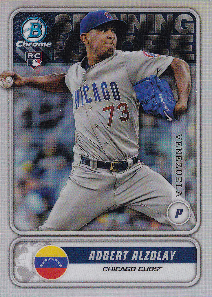 2020 Bowman - Spanning the Globe Chrome Refractor Insert: #STG-AA Adbert Alzolay