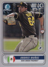 Load image into Gallery viewer, 2020 Bowman - Spanning the Globe Chrome Refractor Insert: #STG-AM Andres Muñoz