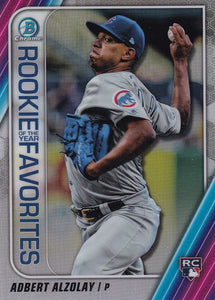 2020 Bowman - Rookie of the Year Favorites Chrome Refractor Insert: #ROYF-AA Adbert Alzolay