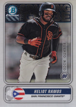 Load image into Gallery viewer, 2020 Bowman - Spanning the Globe Chrome Refractor Insert: #STG-HR Heliot Ramos