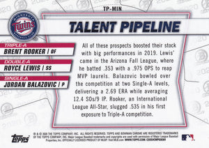 2020 Bowman - Talent Pipeline Trios Chrome Refractor Insert